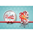 Happy New Year 2015 red celebration background vector image vector image