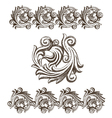 Baroque elements drawn by hand vector image