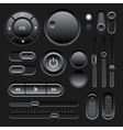 Black Web UI Elements Design vector image