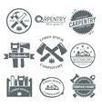 Carpentry Label Set vector image