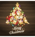Christmas card with baubles EPS 10 vector image