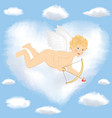 Cupid flying vector image