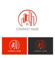 home cityscape logo vector image