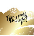 merry christmas - hand lettering quote to winter vector image