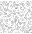 Seamless pattern with grapes acorns leaves and vector image