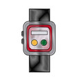 smartwatch clock wearable technology icon vector image