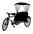 Three wheel bicycle taxi silhouette vector image