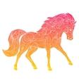 Wild horse gradient ornament ethnic vector image