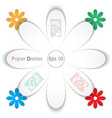 paper daisy vector image