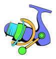 fishing reel icon icon cartoon vector image vector image