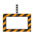 construction information label icon vector image