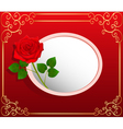background card with red rose vector image