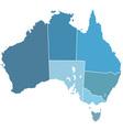 Australia silhouette map vector image