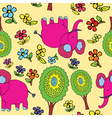 Elephant pattern vector image