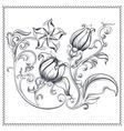 Ornate vintage floral ornament vector image