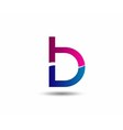 Abstract Letter b Icon set collection vector image
