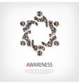 awareness people symbol vector image