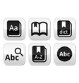 Dictionary book buttons set vector image