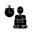 express delivery courier service man with order vector image