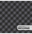 gingham black vector image