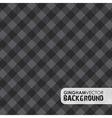 gingham black vector image