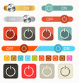 On Off Symbols Set Isolated on White Background vector image