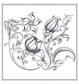 Ornate vintage floral ornament vector image
