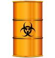 Orange barrel with bio hazard sign vector image vector image
