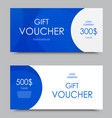 gift company voucher template vector image