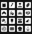 bakery icons set squares vector image