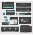 Website template UI elements vector image