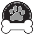 Dog Bone and Paw vector image