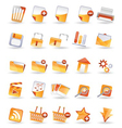 25 detailed internet icons vector image