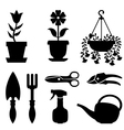 Flower tools vector image
