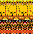 afrikan pattern seamless vector image