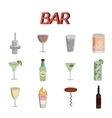 Bar flat icons set vector image