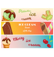 collection of ice cream banners sweet dessert cold vector image