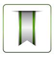 Green book mark label vector image