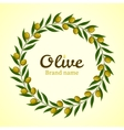 Green olive branches wreath vector image