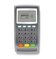 POS Terminal realistic on a white vector image