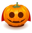pumpkin dracula for halloween vector image