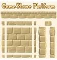 stone platform for games vector image