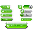 web buttons green vector image