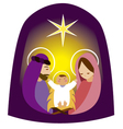 Baby Jesus in a manger 2 vector image
