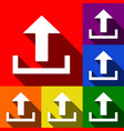 upload sign   set of icons vector image