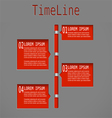 Time line red diagram vector image