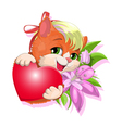 gentle kitty vector image