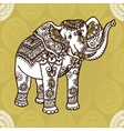 elephant and mehendi ornament vector image vector image