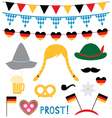 Oktoberfest photo booth and design elements vector image