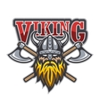 Viking warrior sport logo vector image
